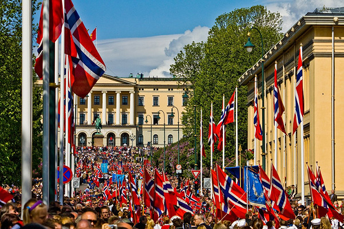 Photo courtesy of the Utah European Chamber. Photographed is the Children's Parade in Oslo
