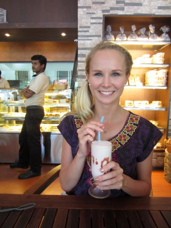 Milkshake stop with Sara