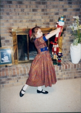 A normal way to pose for Christmas photos if you want to be in The Nutcracker
