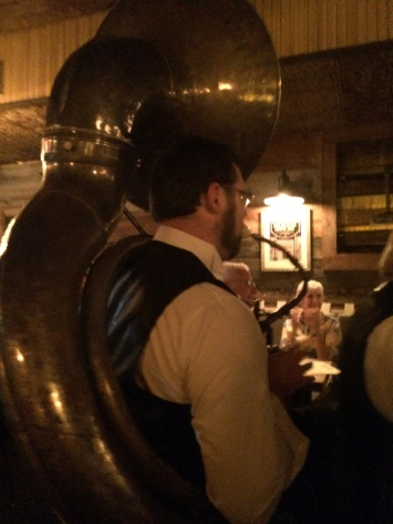drinks and tubas at Prohibition