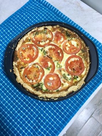 tomato kale feta quiche
